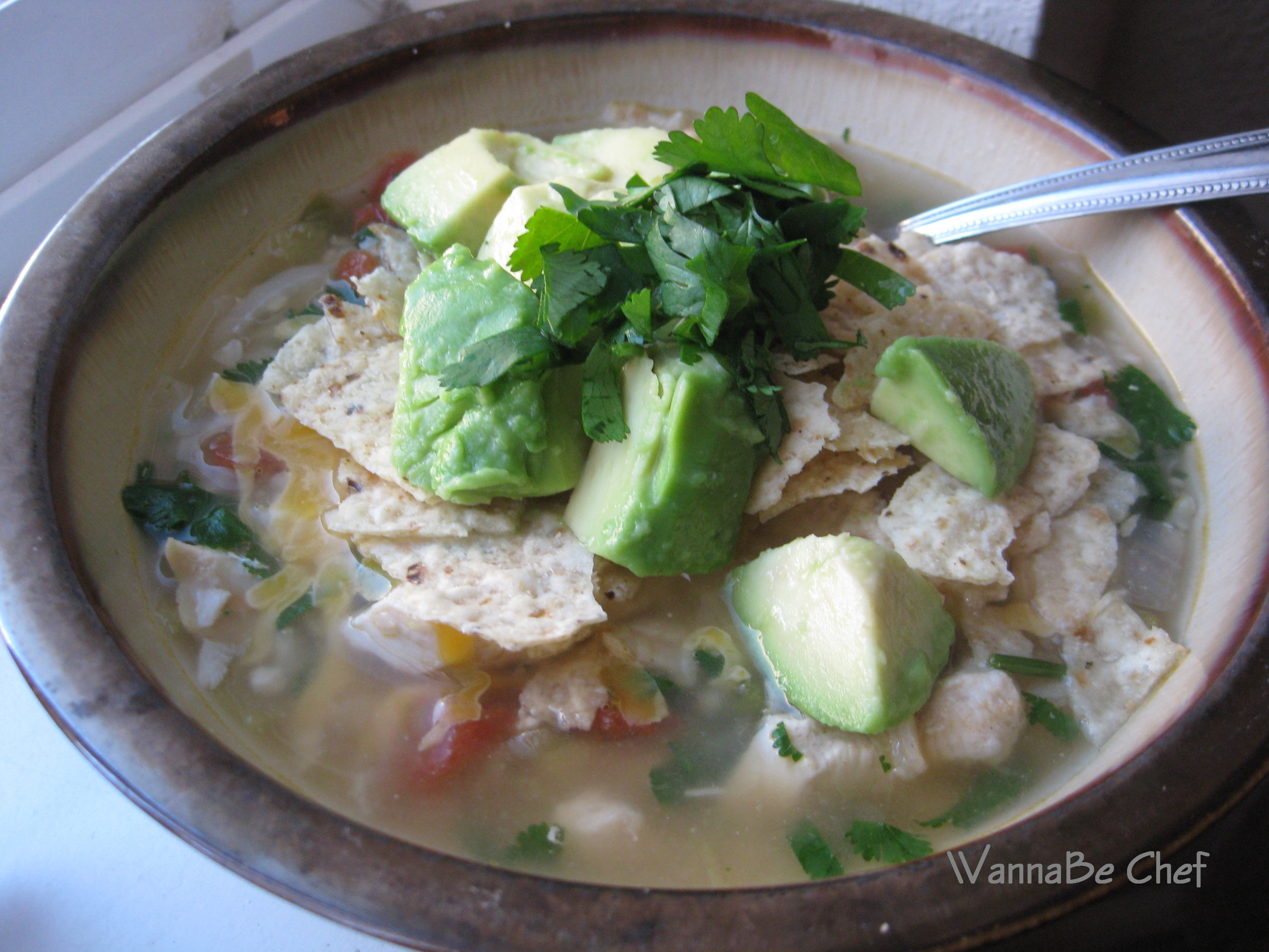 Green Chili Chicken and Lime Soup